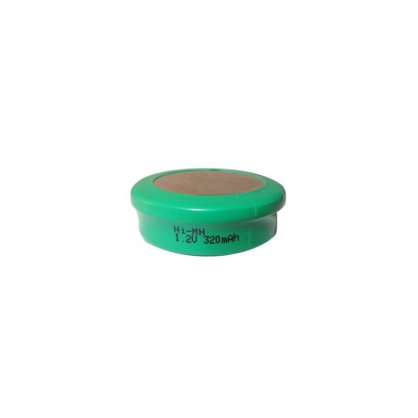 NiMH button cell battery 320 mAh - 1,2V - Evergreen