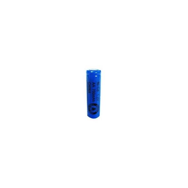 NiCD battery AA 700 mAh flat head - 1,2V - Evergreen