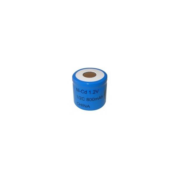 NiCD battery 1/2 C 800 mAh flat head - 1,2V - Evergreen
