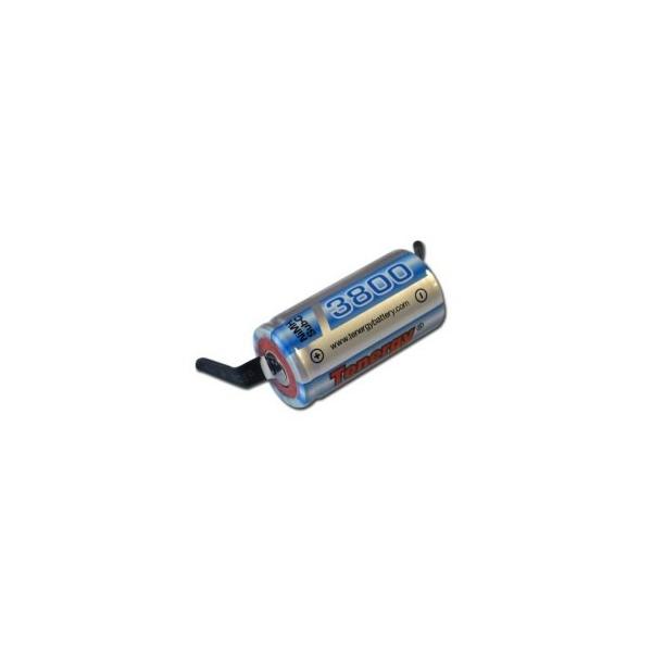NiMH battery Sub C 3800 mAh with tabs - 1,2V - Tenergy