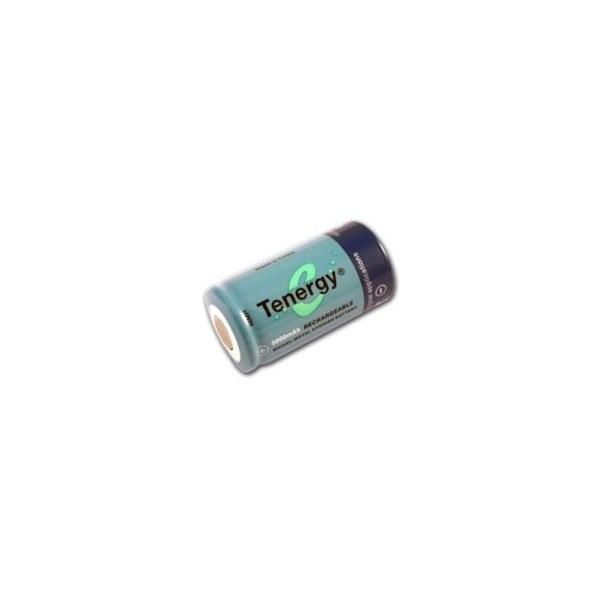 NiMH battery C 5000 mAh flat head - 1,2V - Tenergy