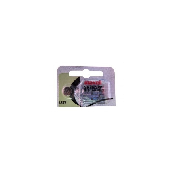 Button cell battery SR716 / 315 - 1,55V - silver oxyde - Maxell