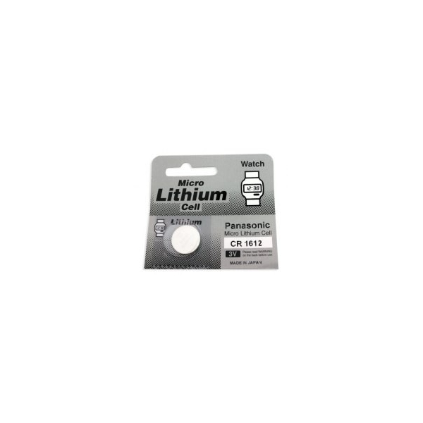 Lithium button cell battery CR1612 - 3V - Panasonic