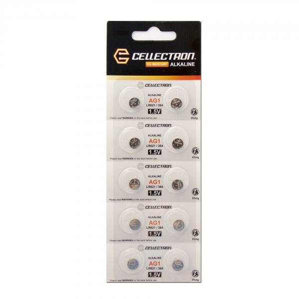 AG1 10 button cell battery AG1/ LR60 / LR620 1,5V Cellectron