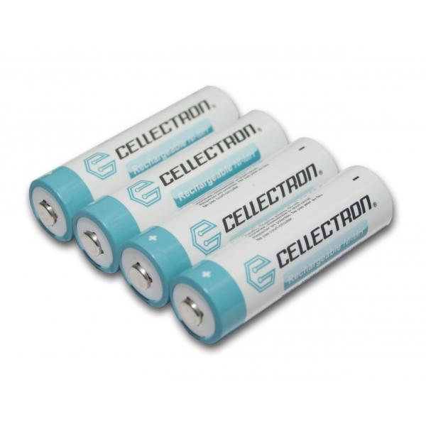4X NiMH battery AA 2200 mAh button top - 1,2V