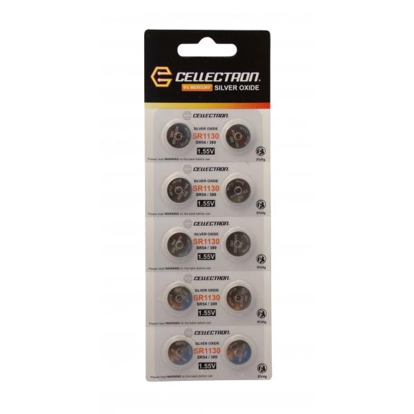 SR1130 10 Silver Oxide battery SR1130/SR54 / 389 1,55V Cellectron