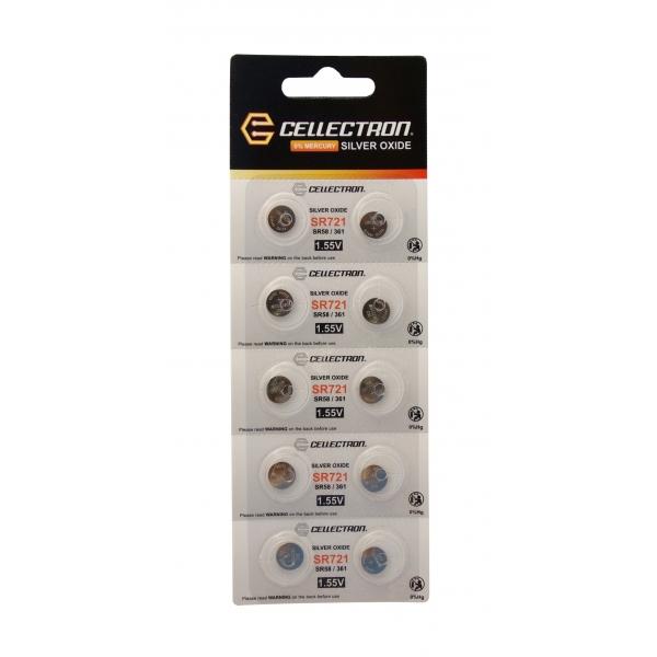 SR721 10 Silver Oxide battery SR721/ SR58/ 361 1,55V Cellectron