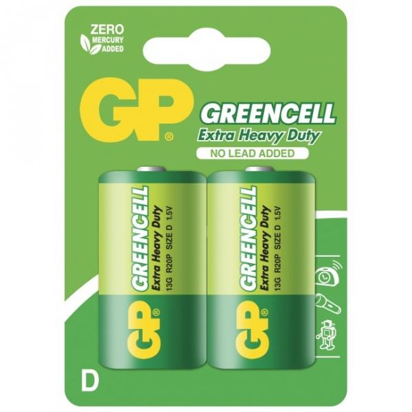 Extra heavy duty battery 2 X D / R20 - 1,5V GP Battery