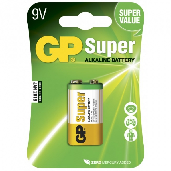 Alkaline battery 9V / 6LR61 - GP Battery