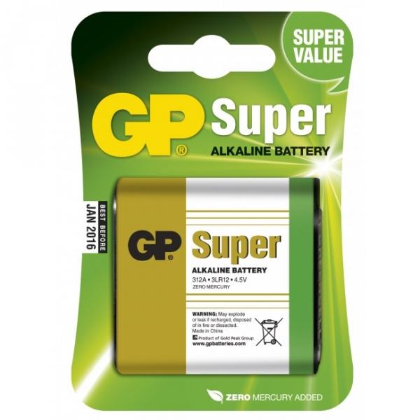 Alkaline battery 1 x 3LR12 4,5V SUPER - GP Battery