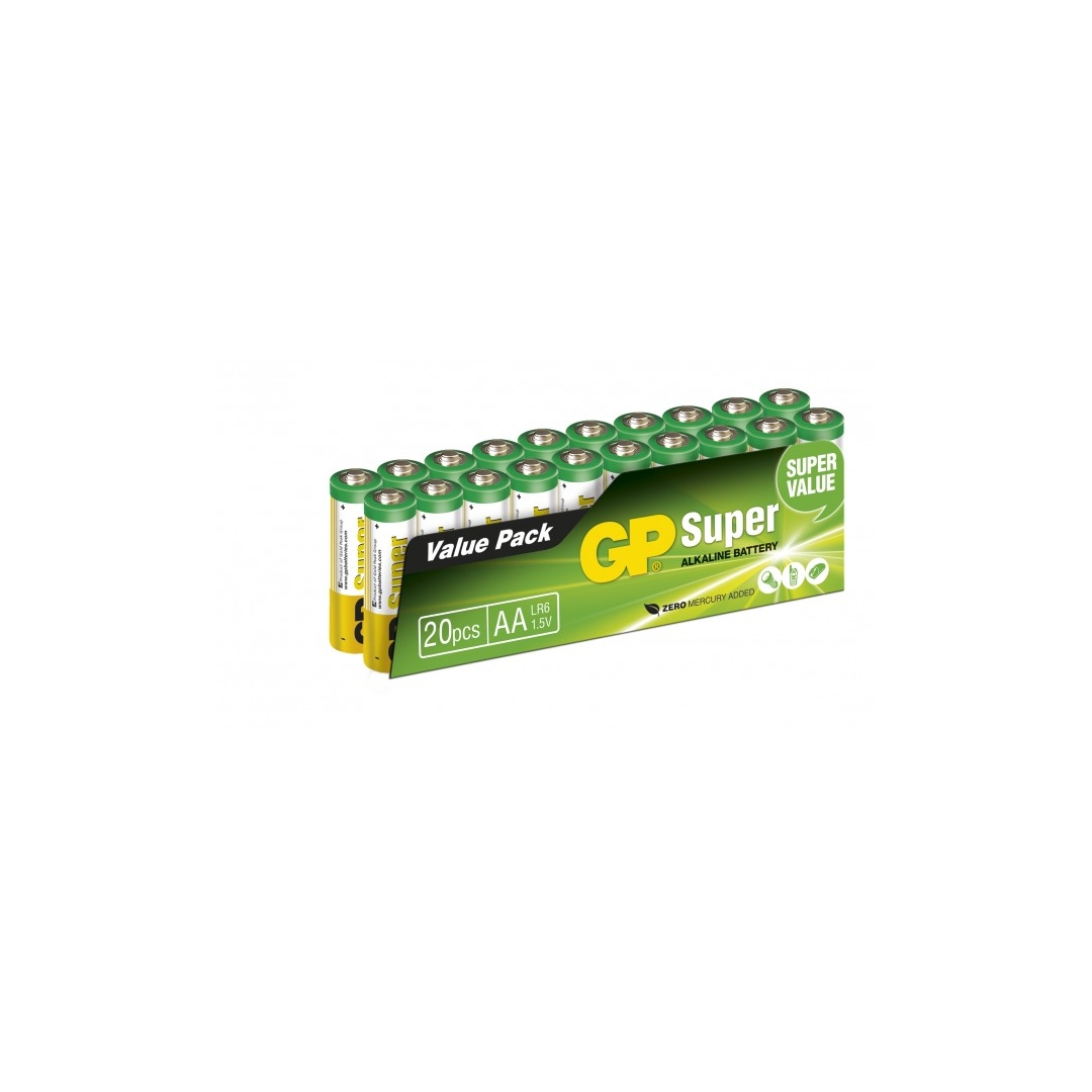 alkaline battery 20 x aa lr6 super 1 5v gp battery. Black Bedroom Furniture Sets. Home Design Ideas
