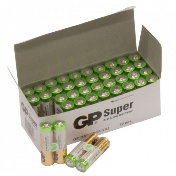 Alkaline battery 2 x AA / LR6 SUPER - 1,5V - GP Battery