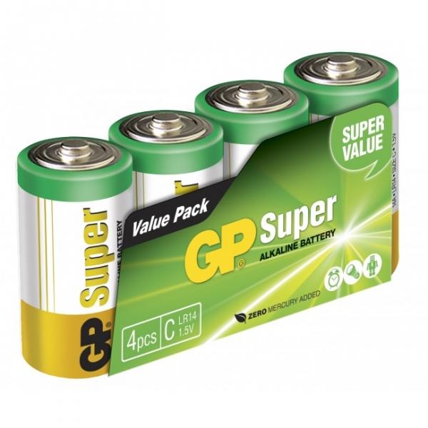 Alkaline battery 4 x C / LR14 SUPER - 1,5V - GP Battery