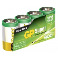 Alkaline battery 4 x D / LR20 SUPER - 1,5V - GP Battery