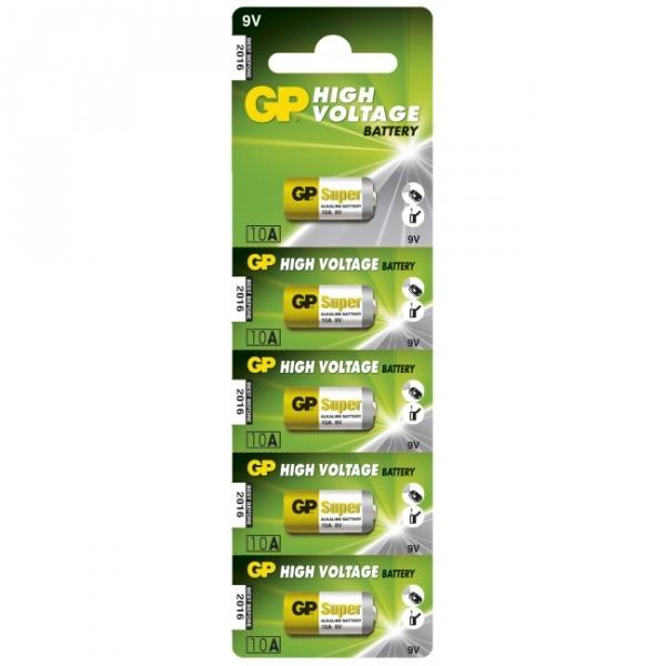 Alkaline battery 5 x 10A / L1022 - 9V - GP Battery