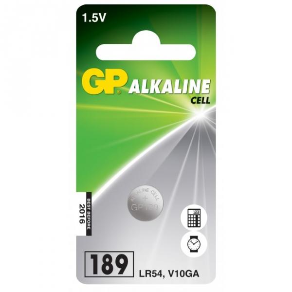 Alkaline button cell battery 1 x GP 189 / LR54 / V10GA - 1,5V - GP Battery