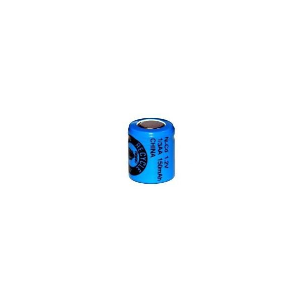 NiCD battery 1/3 AA 150 mAh flat head - 1,2V - Evergreen