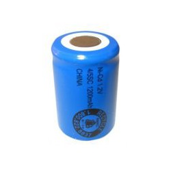 NiCD battery 4/5 Sub C 1200 mAh flat head - 1,2V - Evergreen