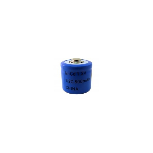 NiCD battery 1/2 C 800 mAh button top - 1,2V - Evergreen