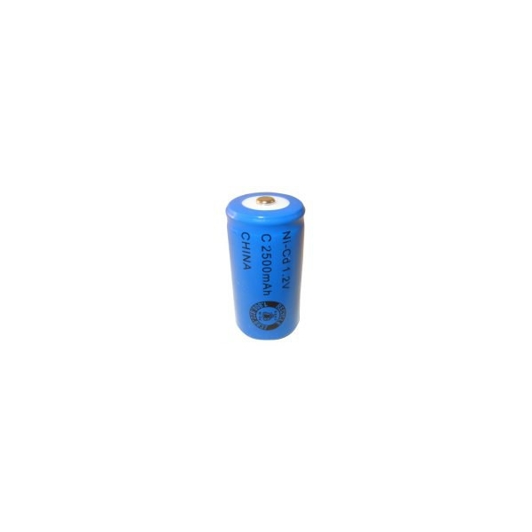 NiCD battery C 2500 mAh button top - 1,2V - Evergreen