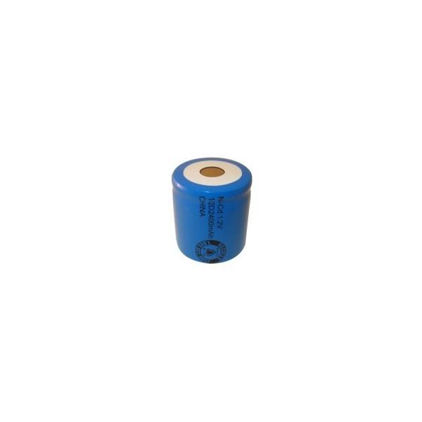 NiCD battery 1/2 D 2400 mAh flat head - 1,2V - Evergreen