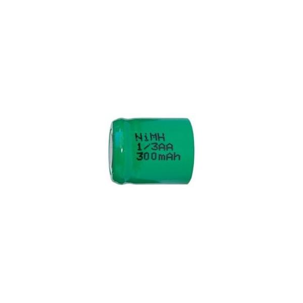 NiMH battery 1/3 AA 300 mAh flat head - 1,2V - Evergreen