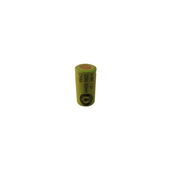 NiMH battery 2/3 AA 650 mAh flat head- 1,2V - Evergreen