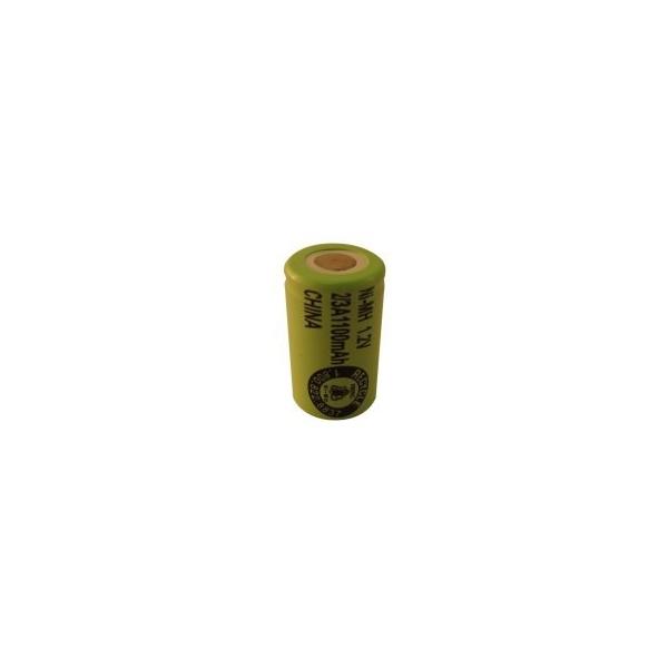 NiMH battery 2/3 A 1100 mAh flat head - 1,2V - Evergreen