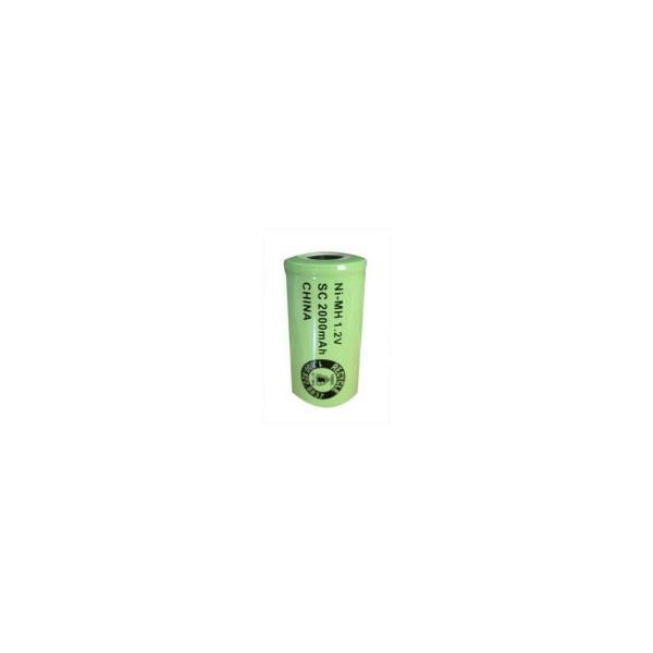 NiMH battery Sub C 2000 mAh flat head - 1,2V - Evergreen