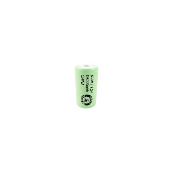 NiMH battery D 8000 mAh flat head - 1,2V - Evergreen