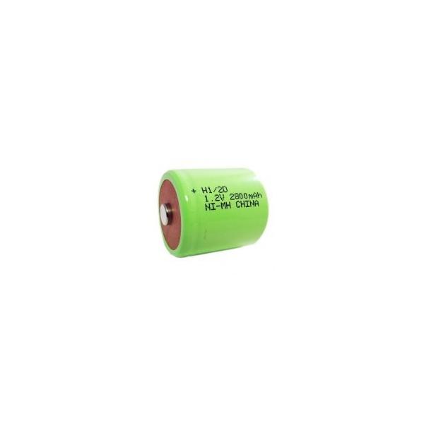 NiMH battery 1/2 D 2800 mAh button top - 1,2V - Evergreen